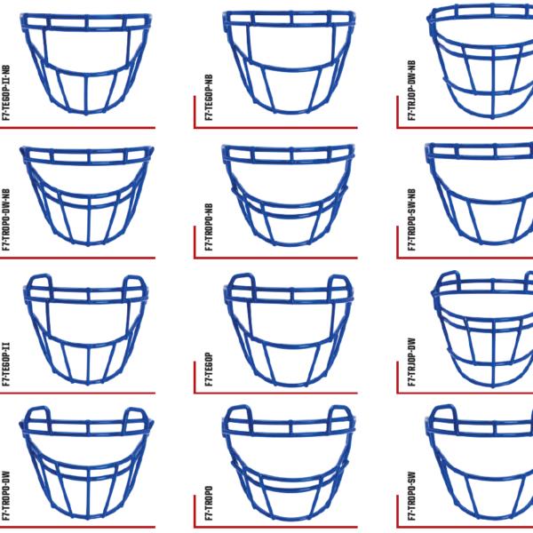 F7 Football Helmet - Facemask Options