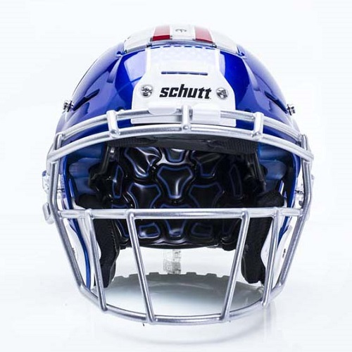 F7 Football Helmet - Front View with ROPO Facemask